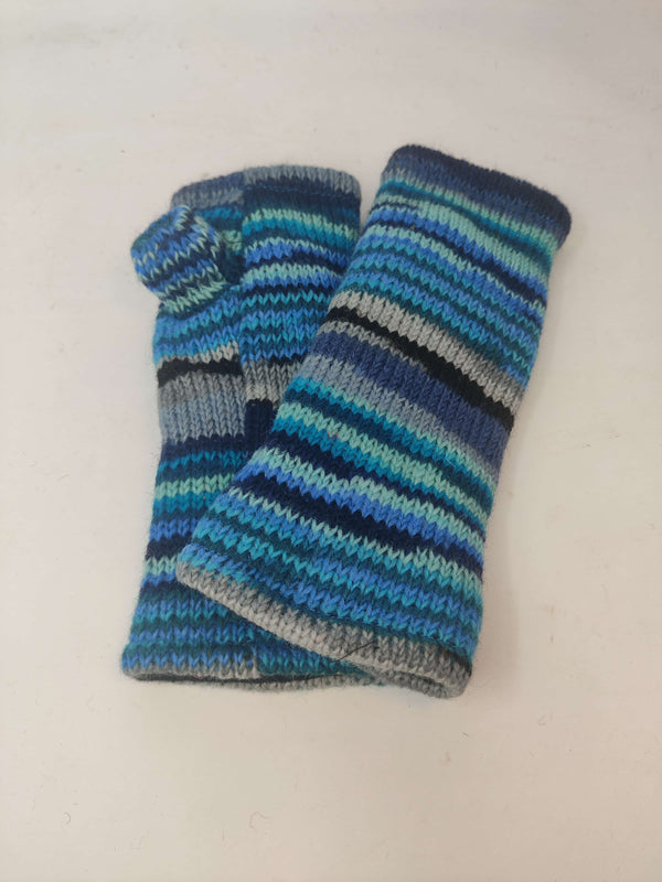 Wool Knit Fingerless Gloves