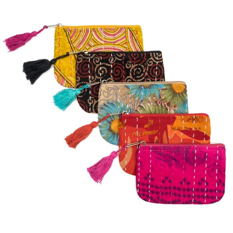 Kantha Sari Coin Purse