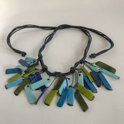 Tagua Fragments 5 Knots Necklace