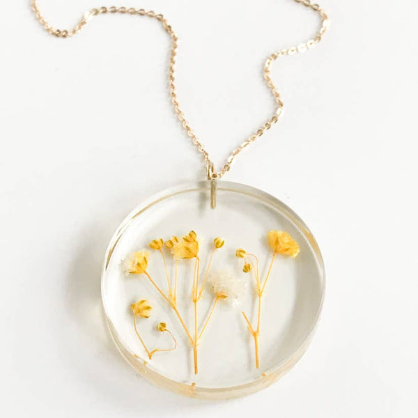 Botanical Full Moon Gypsophila Pendant
