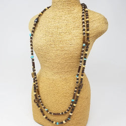 Mixed Bone & Howlite Necklace