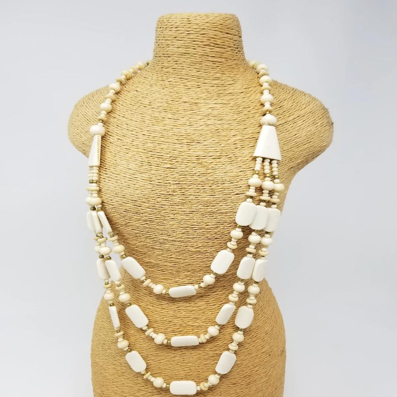 3 Tier Buffalo Bone Necklace