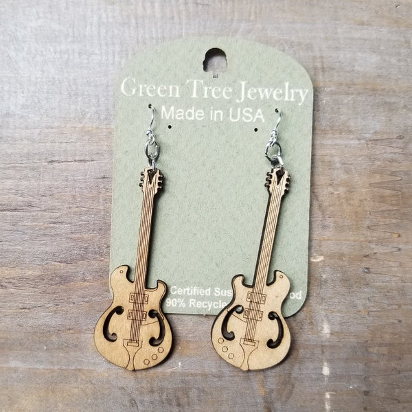 Eco Wood Instrumental Earrings
