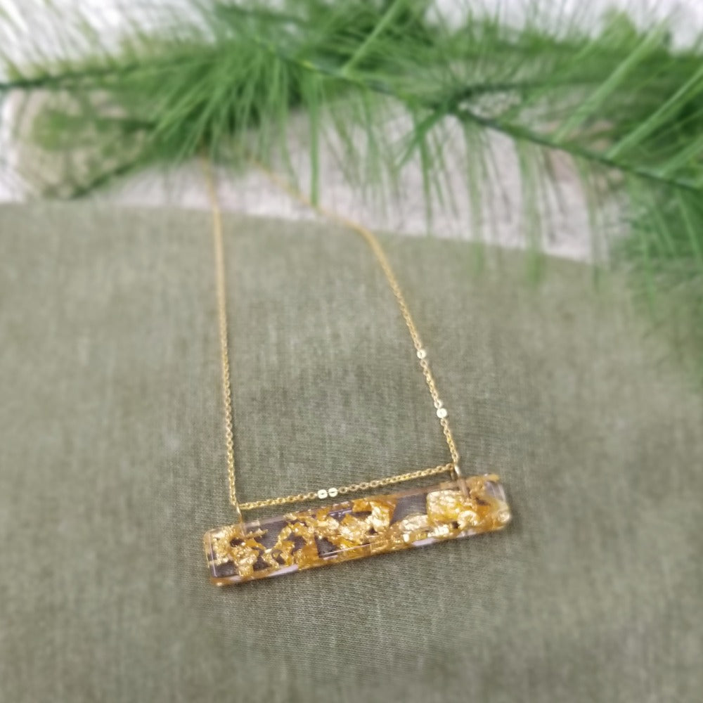 Eco Resin Gold Jewelry