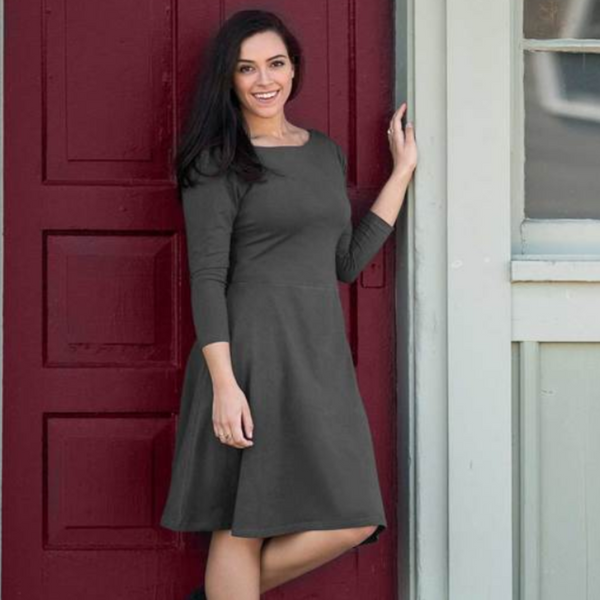 3/4 Sleeve Circle Dress