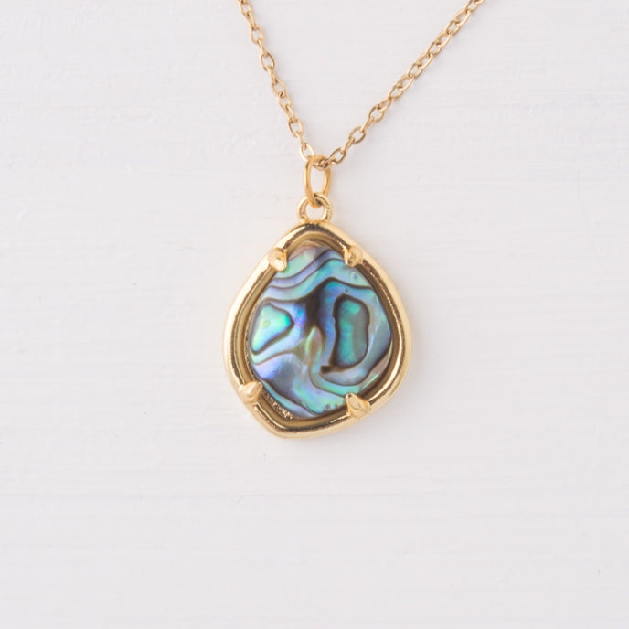 Harmony Gold Abalone Shell Necklace