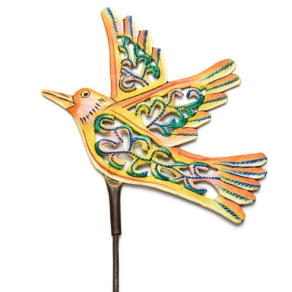 Painted Bird Garden Stake