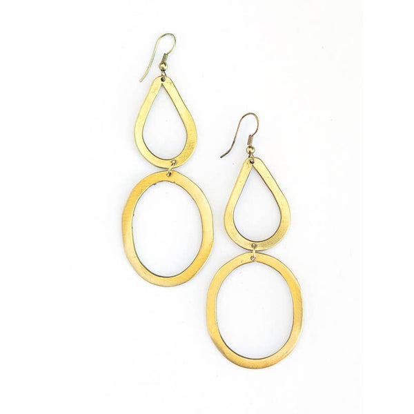 Bouldering Earrings - Brass