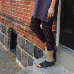 Organic Cotton Mid-Calf Leggings - Print