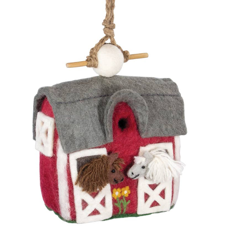 Country Stable Birdhouse