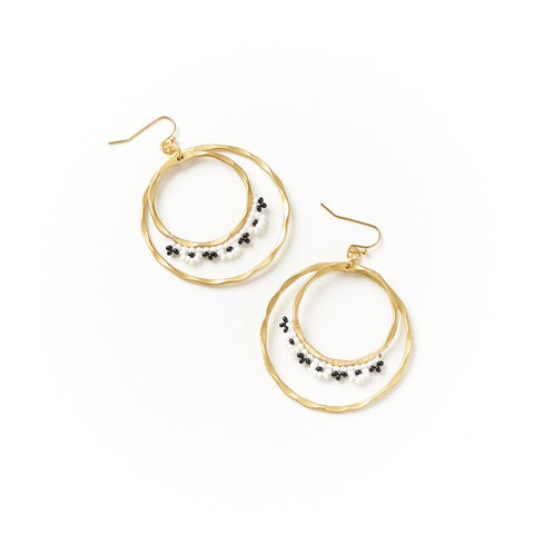 Kalapriya Earrings - Stripe Hoops