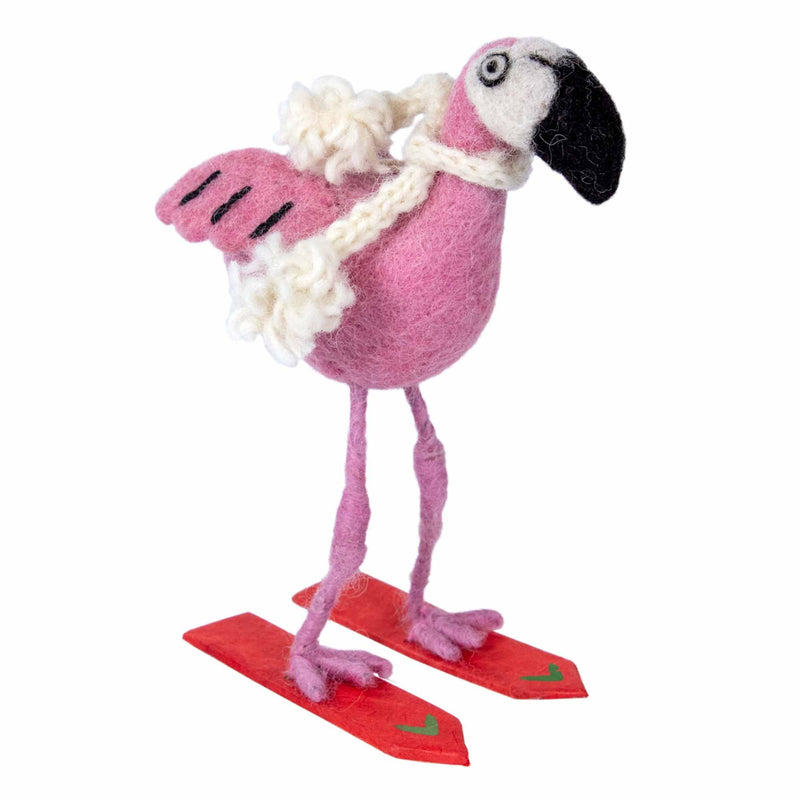 Ski Flamingo Ornament