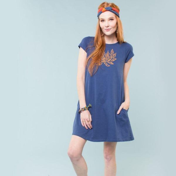 Flaming Lotus Organic T-Shirt Dress