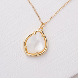 Harmony Gold Mother of Pearl Necklace