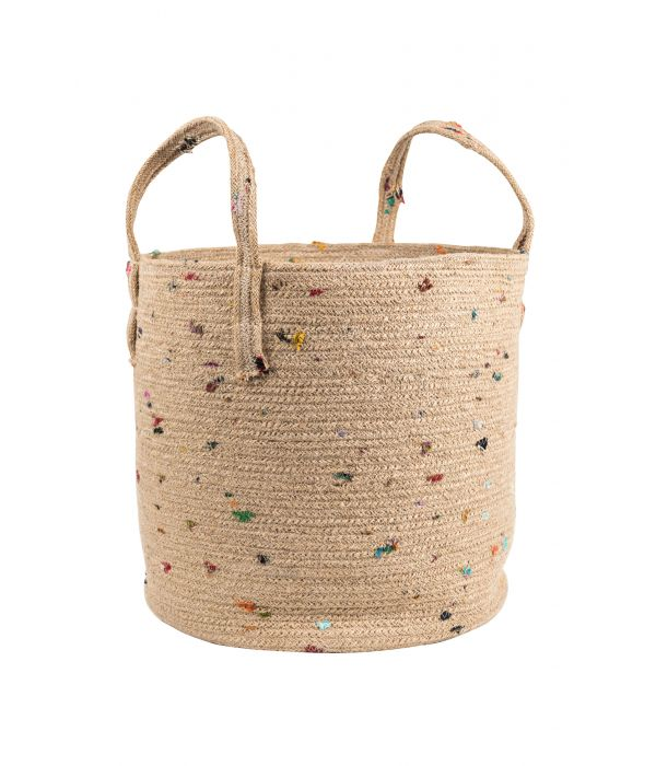 Bright Bits Jute Basket - 14""