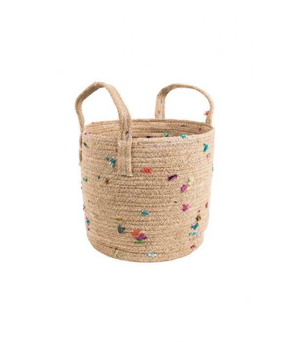 Bright Bits Jute Basket - 10""