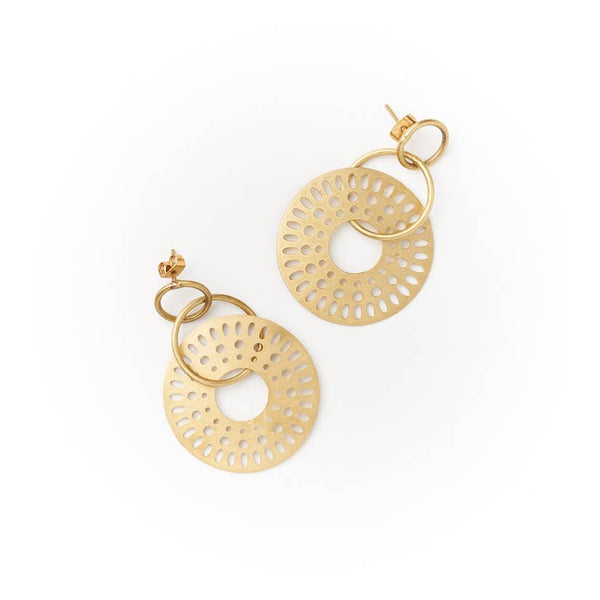 Abhaya Earrings - Cascade