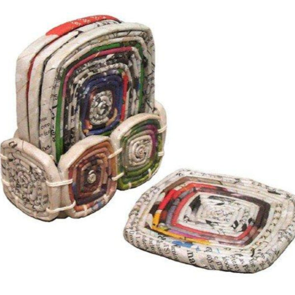 Coaster Recycled Newspaper Set