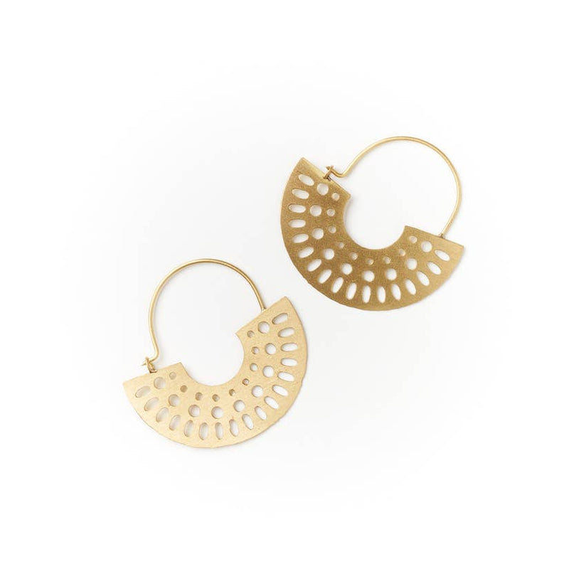 Abhaya Earrings - Hoop