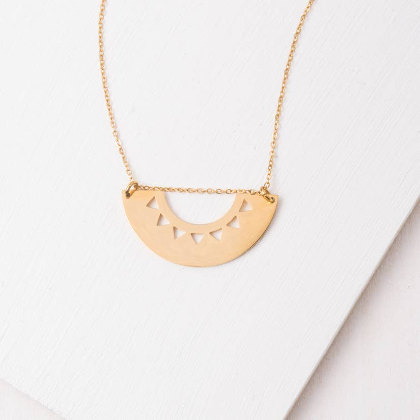 Quinn Gold Geometric Necklace