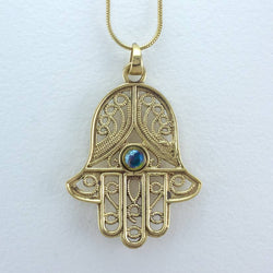 Filagree Hamsa Necklace