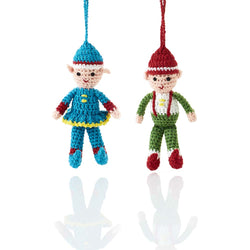 Crocheted Elves Ornament