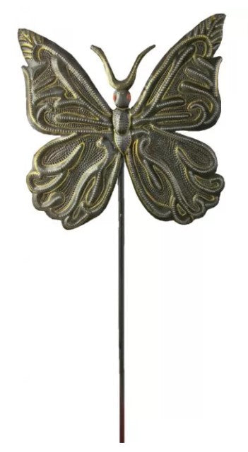 Painted Butterfly Garden Stake