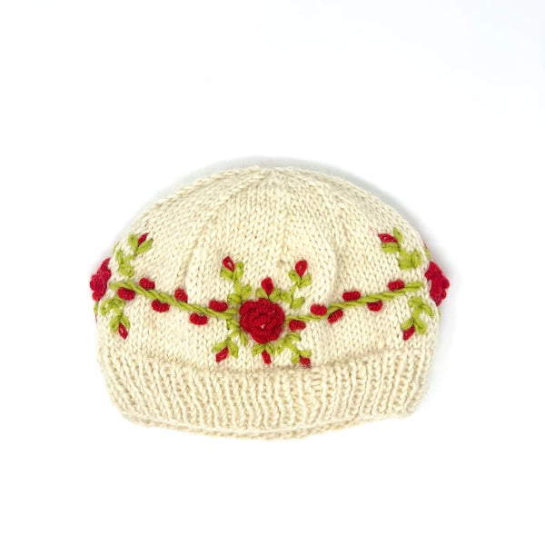 Rose Embroidered Hat