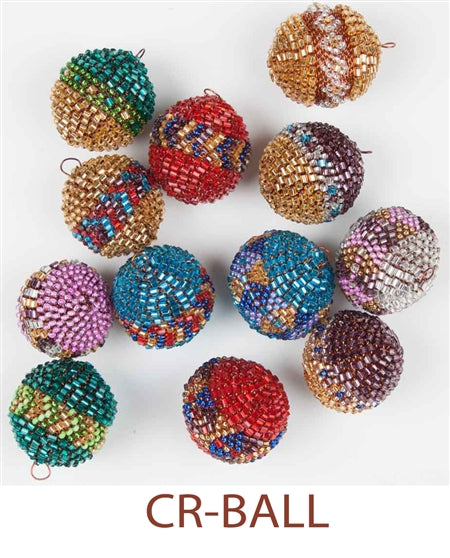 Telephone Bead Ball Earrings
