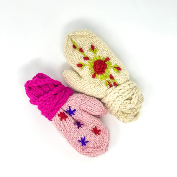 Kids Embroidered Mitten
