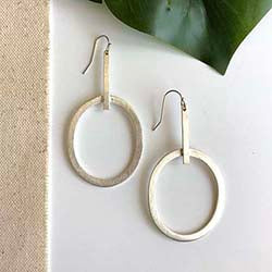 Elongated Hoops - Silver