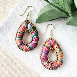 Candied Pillow Teardop Earrings