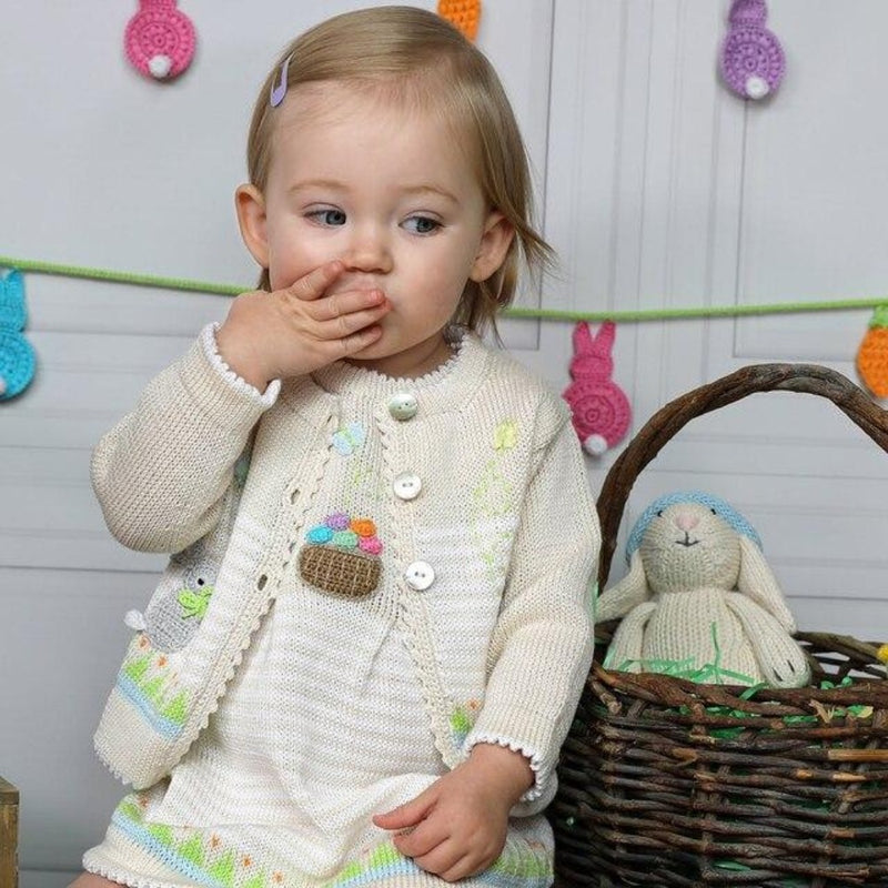 Easter Dress & Cardigan with Bunnies