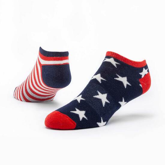 Organic Footie Stars & Stripes Socks