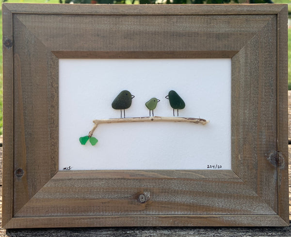 Three Birds on a Branch -5x7