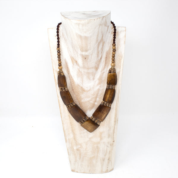 V Shaped Buffalo Bone Necklace