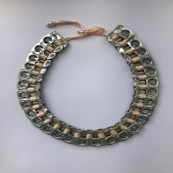 Poptab Necklace with Ribbon