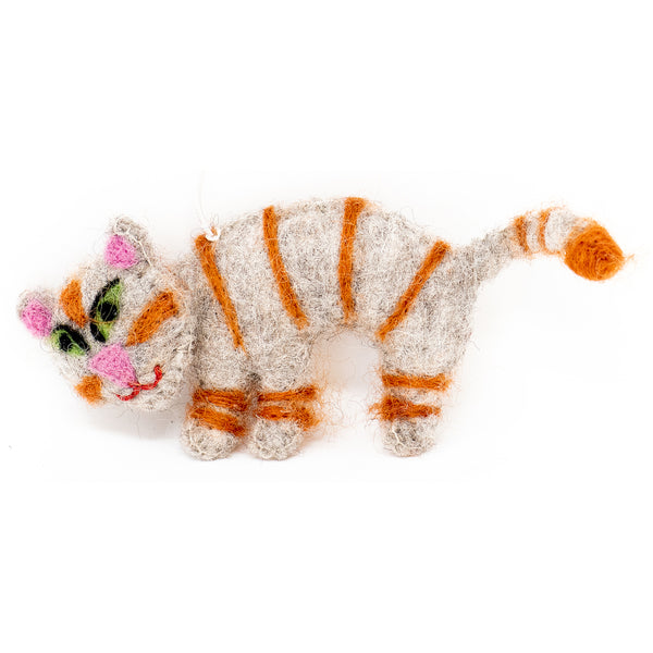 Handmade Felt Cat Ornament