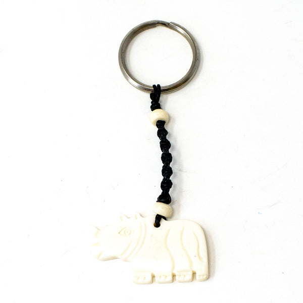 Buffalo Bone Keychain