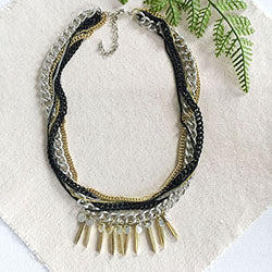 Spiked Metallic Necklace