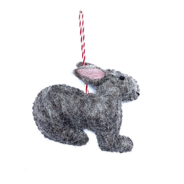 Bunny Felt Wool Ornament