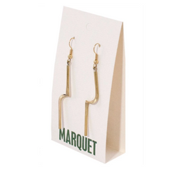 Handmade Polished Brass Earrings