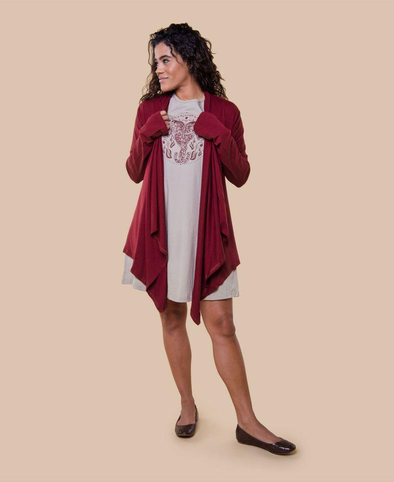 Cotton Draped Cardigan