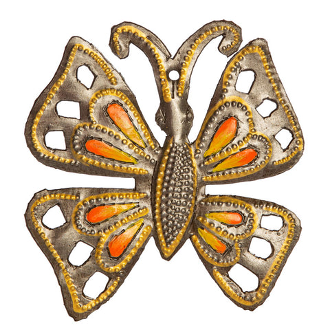 Orange Butterfly Ornament
