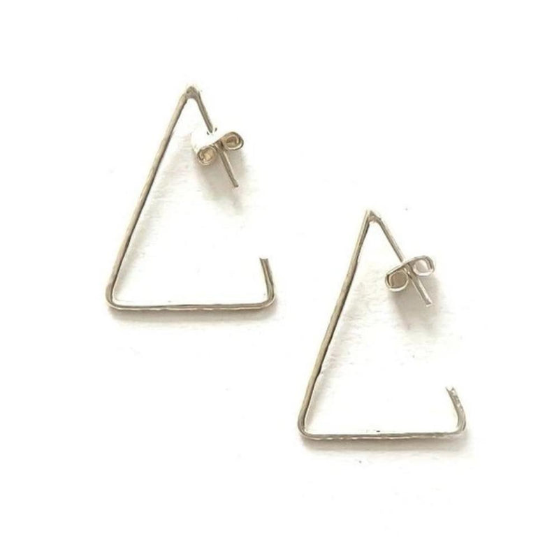 Triangle Sterling Hoops