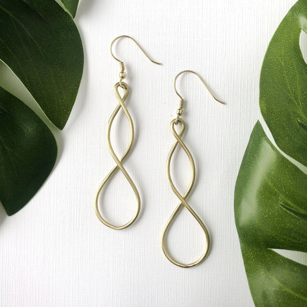 Double Helix Earrings - Gold