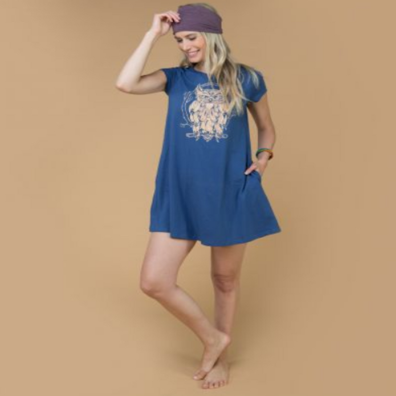 Starlight Owl T-Shirt Dress