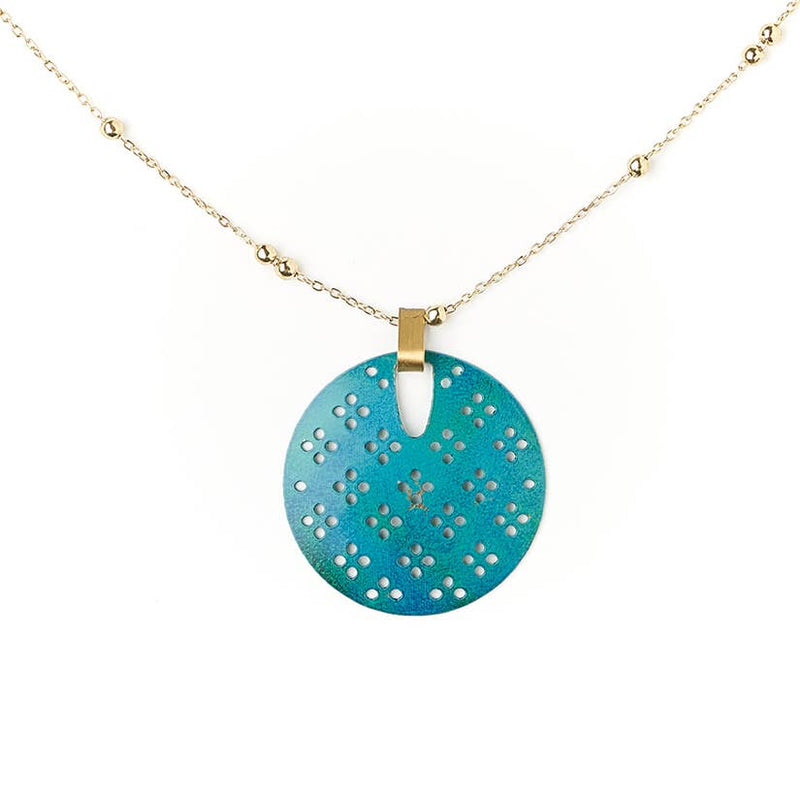 Chameli Necklace - Teal Blossom