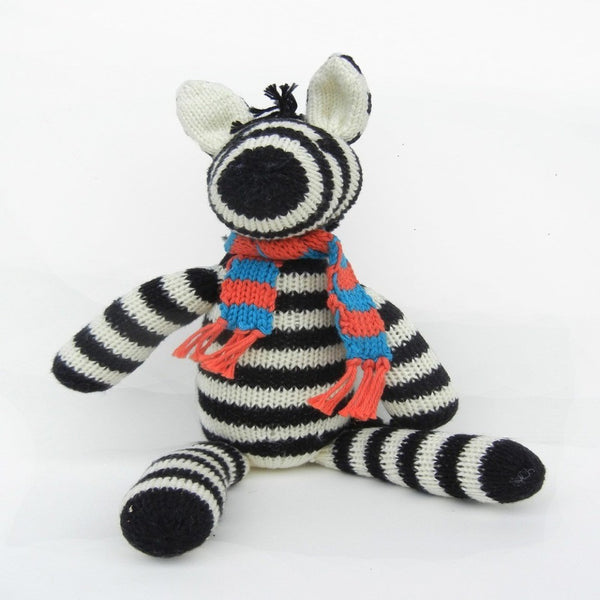 Cotton Zebra with Scarf