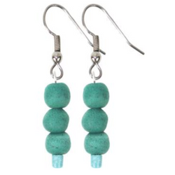 Recycled Glass Pearl Earrings